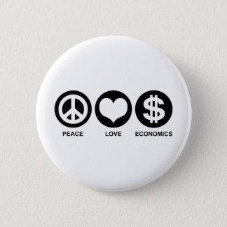 Peace Love Economics 6 Cm Round Badge