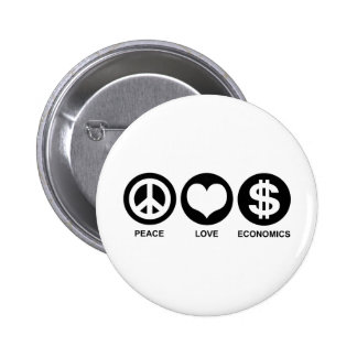 Peace Love Economics 6 Cm Round Badge