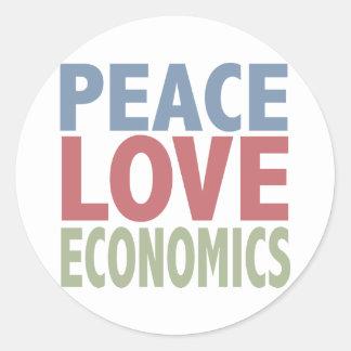 Peace Love Economics Classic Round Sticker