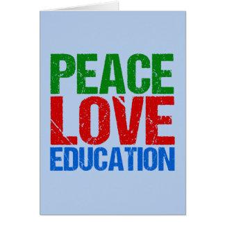 Peace Love Education Card