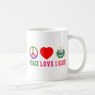 Peace Love El Salvador Mugs
