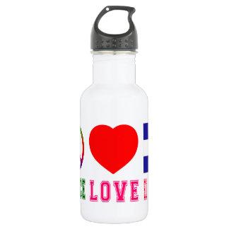 Peace Love El Salvador 532 Ml Water Bottle