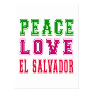 Peace Love El Salvador Postcard