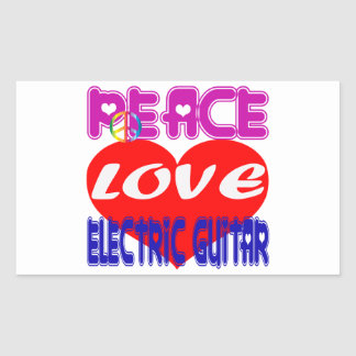 Peace Love electric guitar Stickers