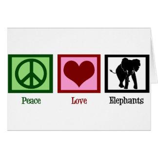 Peace Love Elephants Card