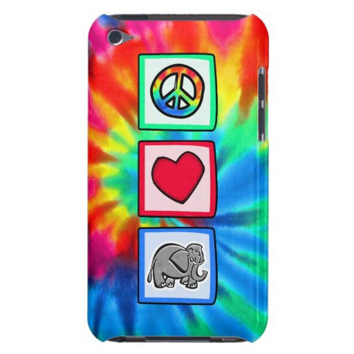 Peace, Love, Elephants Barely There iPod Cases