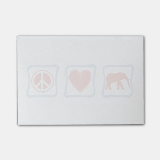 Peace Love Elephants Post-it Notes
