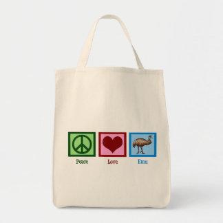 Peace Love Emu Tote Bag