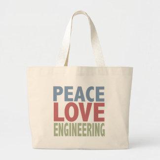 Peace Love Engineering Tote Bags