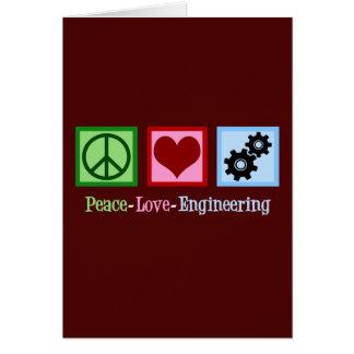 Peace Love Engineering Card