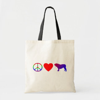 Peace Love English Bulldogs Bag