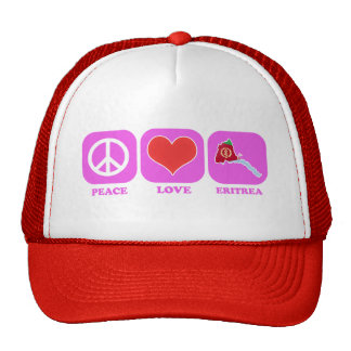 Peace Love Eritrea Cap
