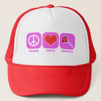 Peace Love Eritrea Trucker Hat