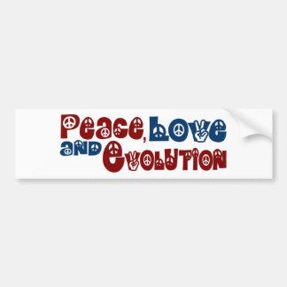 Peace Love Evolution Car Bumper Sticker