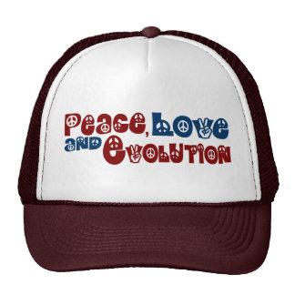 Peace Love Evolution Mesh Hats