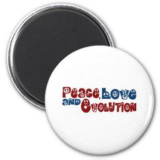 Peace Love Evolution Magnet