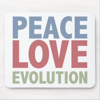 Peace Love Evolution Mouse Mat