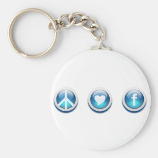 Peace Love Facebook Key Chains