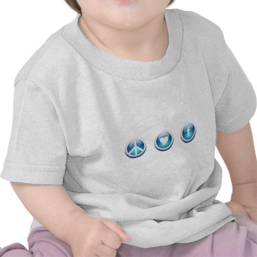 Peace Love Facebook Shirt