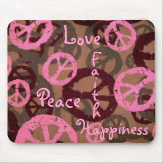 Peace Love Faith Happiness-Mousepad Mouse Pad