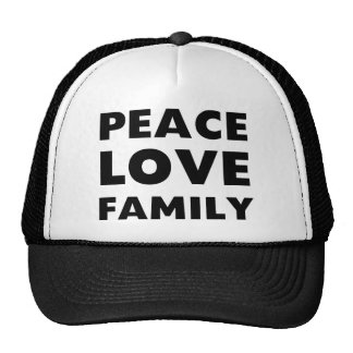 Peace Love Family Cap