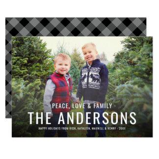 Peace Love & Family   Holiday Photo Card