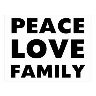Peace Love Family Postcard
