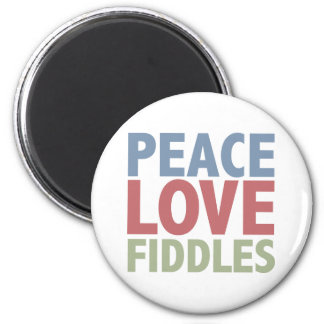 Peace Love Fiddles 6 Cm Round Magnet