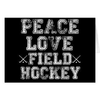 Peace, Love, Field Hockey Card