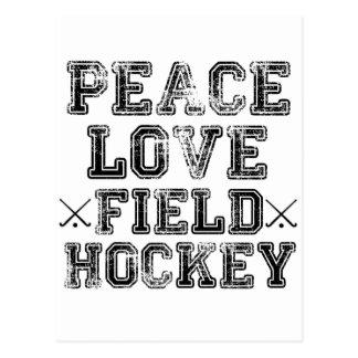 Peace, Love, Field Hockey Postcard