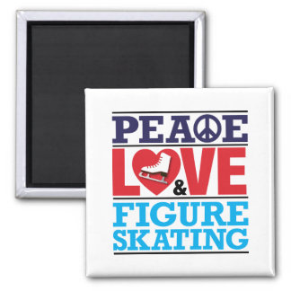 Peace Love Figure Skating Magnet