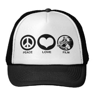 Peace Love Film Cap