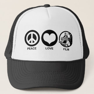 Peace Love Film Trucker Hat