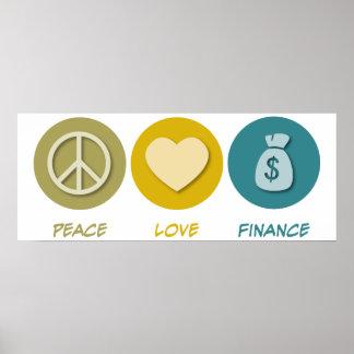 Peace Love Finance Poster