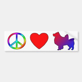 Peace Love Finnish Lapphunds Bumper Sticker