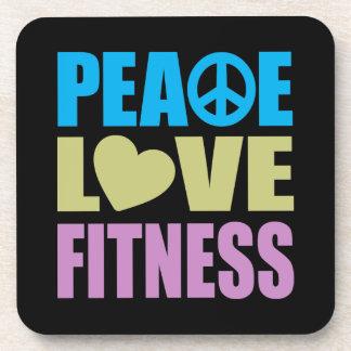 Peace Love Fitness Coaster