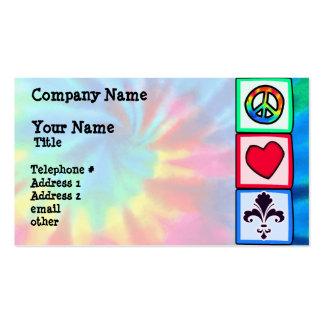 Peace Love Fleur de lis Business Card Template
