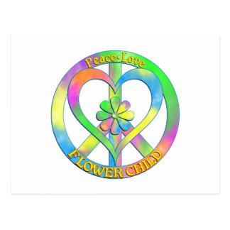 Peace Love Flower Child Postcard