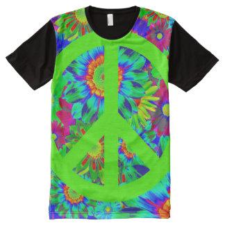 Peace & Love - Flower Power All-Over Print T-Shirt