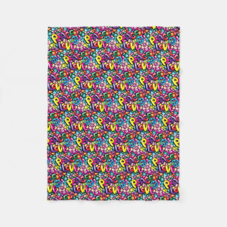 Peace, Love, & Flowers Fleece Blanket