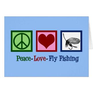 Peace Love Fly Fishing Card