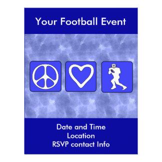 Peace Love Football 21.5 Cm X 28 Cm Flyer