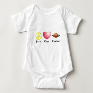 Peace, Love, Football Baby Bodysuit