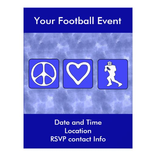 Peace Love Football Flyer Design