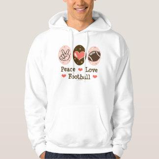 Peace Love Football Hooded Sweatshirt