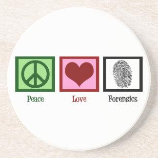 Peace Love Forensics Coaster