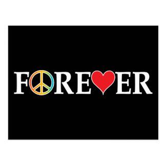 Peace Love Forever Postcard