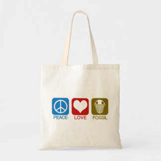 PEACE, LOVE, FOSSIL CANVAS BAGS
