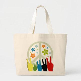 Peace Love Freedom Jumbo Tote Bag