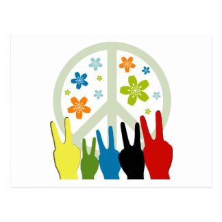 Peace Love Freedom Postcard